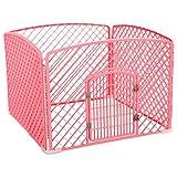 ペット用品 ペットフェンスの犬の柵ペットの犬の檻の重い義務の折り畳み式の子犬の遊び場ウサギのペットの犬の猫のかごの檻の動物練習フェンスの犬舎トレイ 犬小屋・ケージ (Color : Pink, Size : 100*100*75cm)