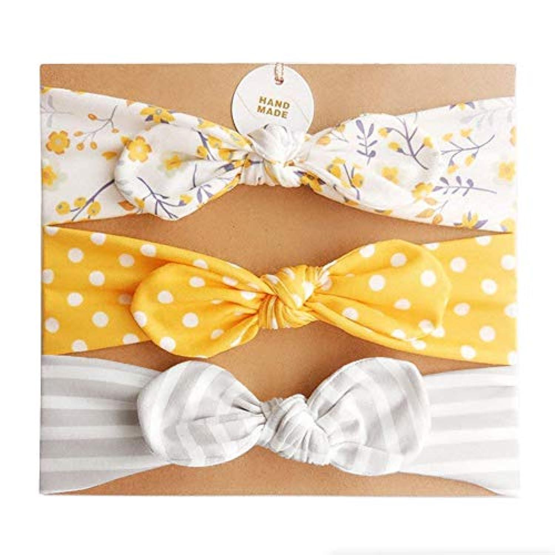 ヘアバンド 赤ちゃん SANSEA 3点セット ヘアアクセサリー ベビー カチューシャ 頭回り37~52cm適用 出産祝い お祝い 誕生日 プレゼント 小花 水玉 缟模样