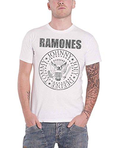 [해외]Ramones T Shirt Residential Seal logo 새로운 공식 남성 distressed/Ramones T Shirt Residential Seal logo new official men`s distressed