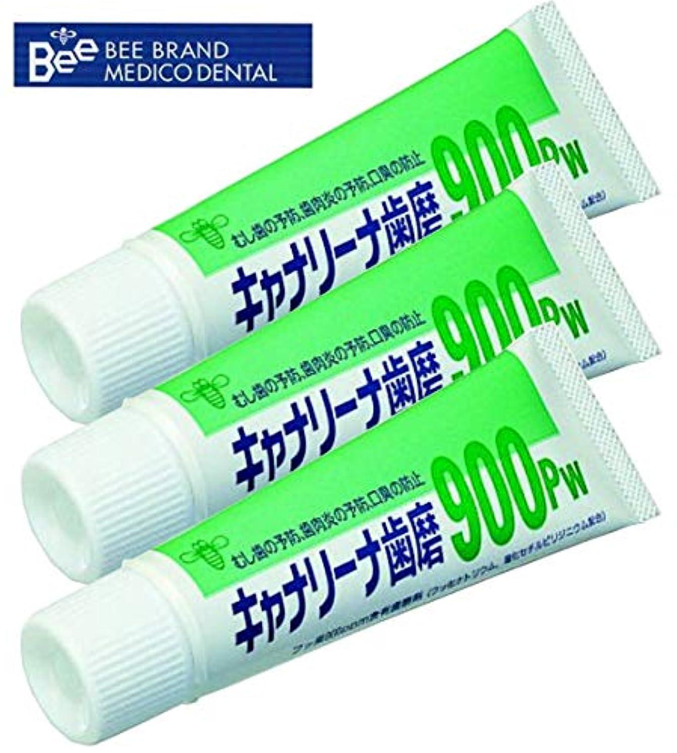スペル本気豪華なビーブランド(BeeBrand) キャナリーナ 歯磨 900Pw × 3本セット 医薬部外品