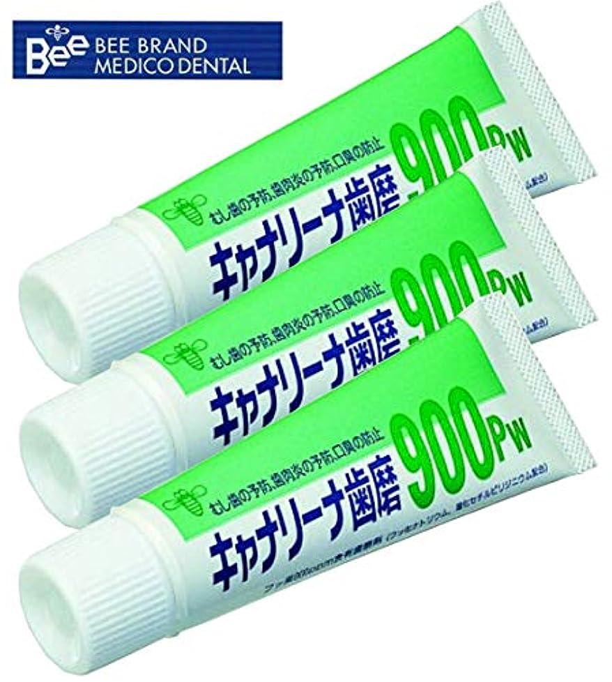 膨らませる保有者膨らませるビーブランド(BeeBrand) キャナリーナ 歯磨 900Pw × 3本セット 医薬部外品