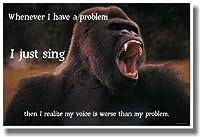 Singing問題–新しいユーモラスなポスター