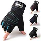 Hqeupiao Weight Lifting Gym Gloves Training Fitness Wrist Wrap Workout Exercise Sports
