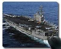 Yantengマウスパッド、航空母艦USSロナルドレーガン軍艦軍艦ゲーミングマウスマットマルチYT84