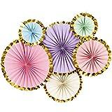 KESOTO ペーパーファン パーティー 飾り付けセット 紙製 写真背景 3色選べ - B