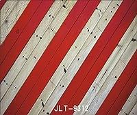 レッドとホワイト木製のストライプ・写真の背景幕壁装飾フォトスタジオ背景