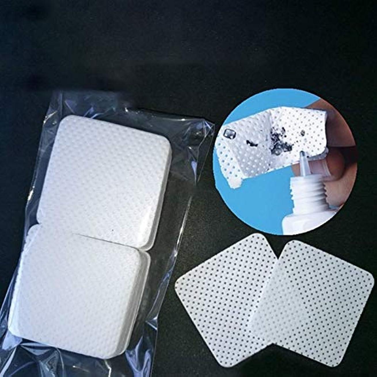 鉄補正油MEI1JIA コットンパッドのメイクアップ化粧品のクリーニングツールを削除QUELLIA 100 PCS/バッグ使い捨てまつげエクステンショングルー