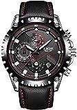 スポテレン SPOTALEN 腕時計 パイロット アナログ ウォッチ LIGE9821P ブラック 本革バンド
