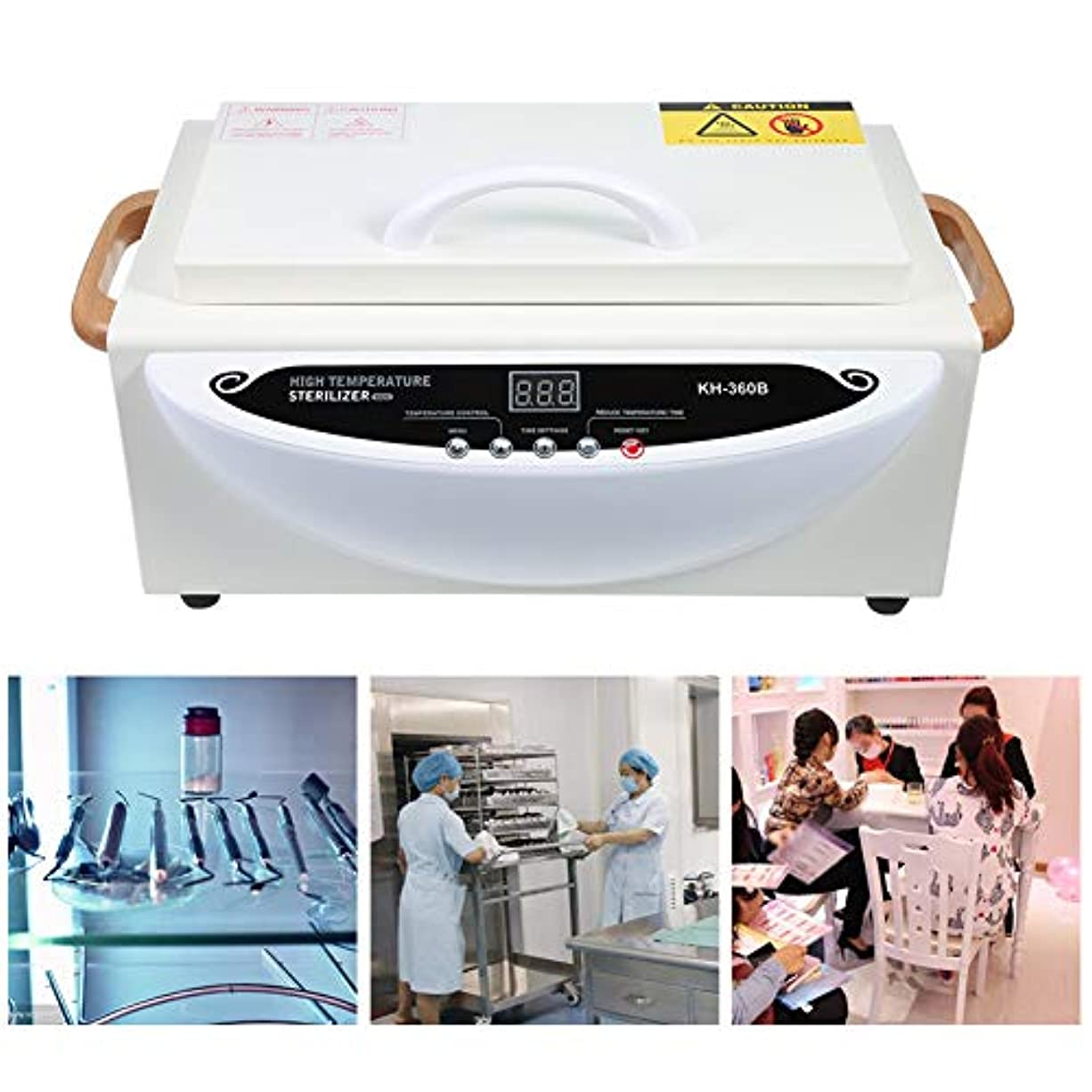 リーチそれぞれ残酷な220V高温滅菌器電気マニキュアネイルツール消毒キャビネットポータブル機器滅菌ツール