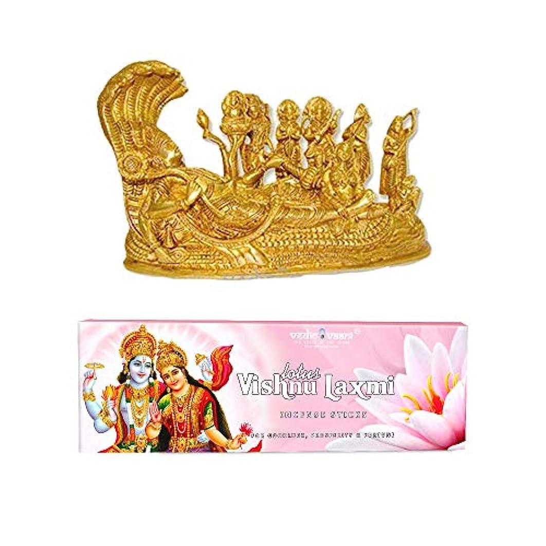 賭けスリップシューズ強制的Vedic Vaani Vishnu Pariwar with Vishnu Laxmi お香スティック