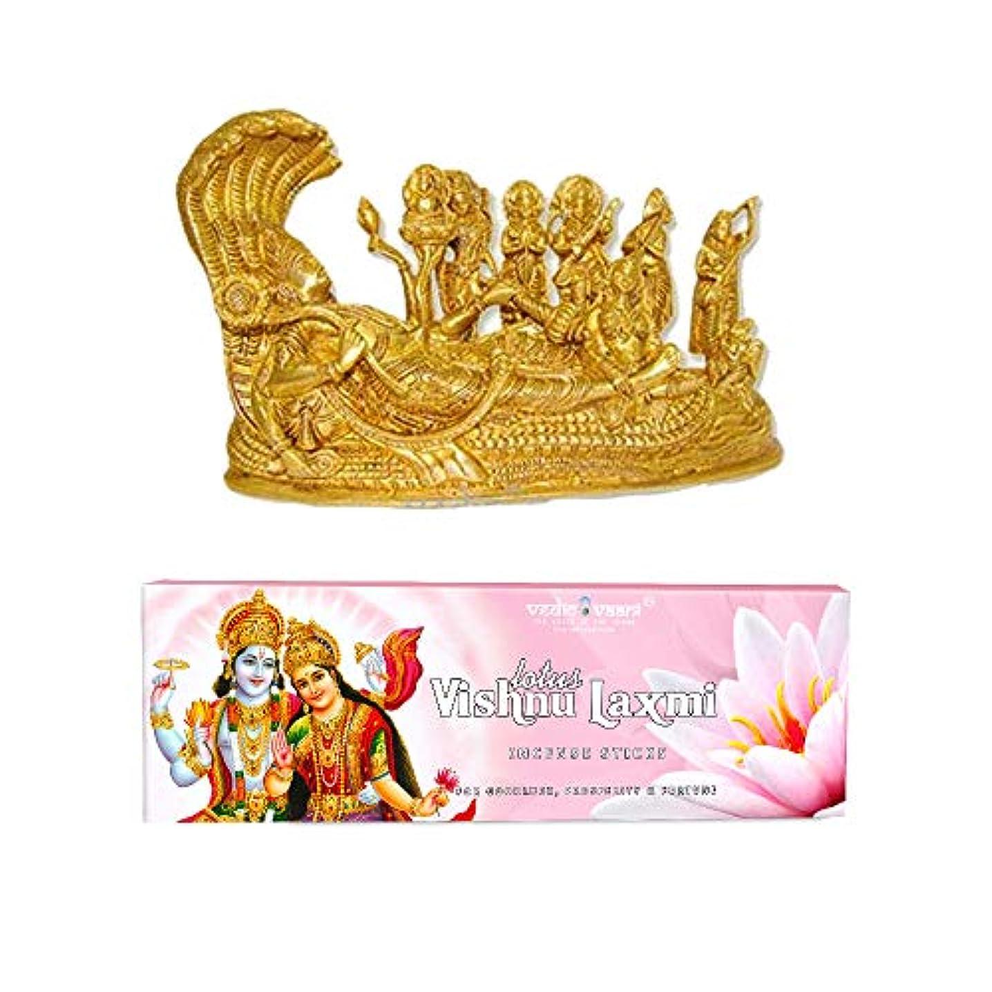 美徳義務付けられた鷹Vedic Vaani Vishnu Pariwar with Vishnu Laxmi お香スティック