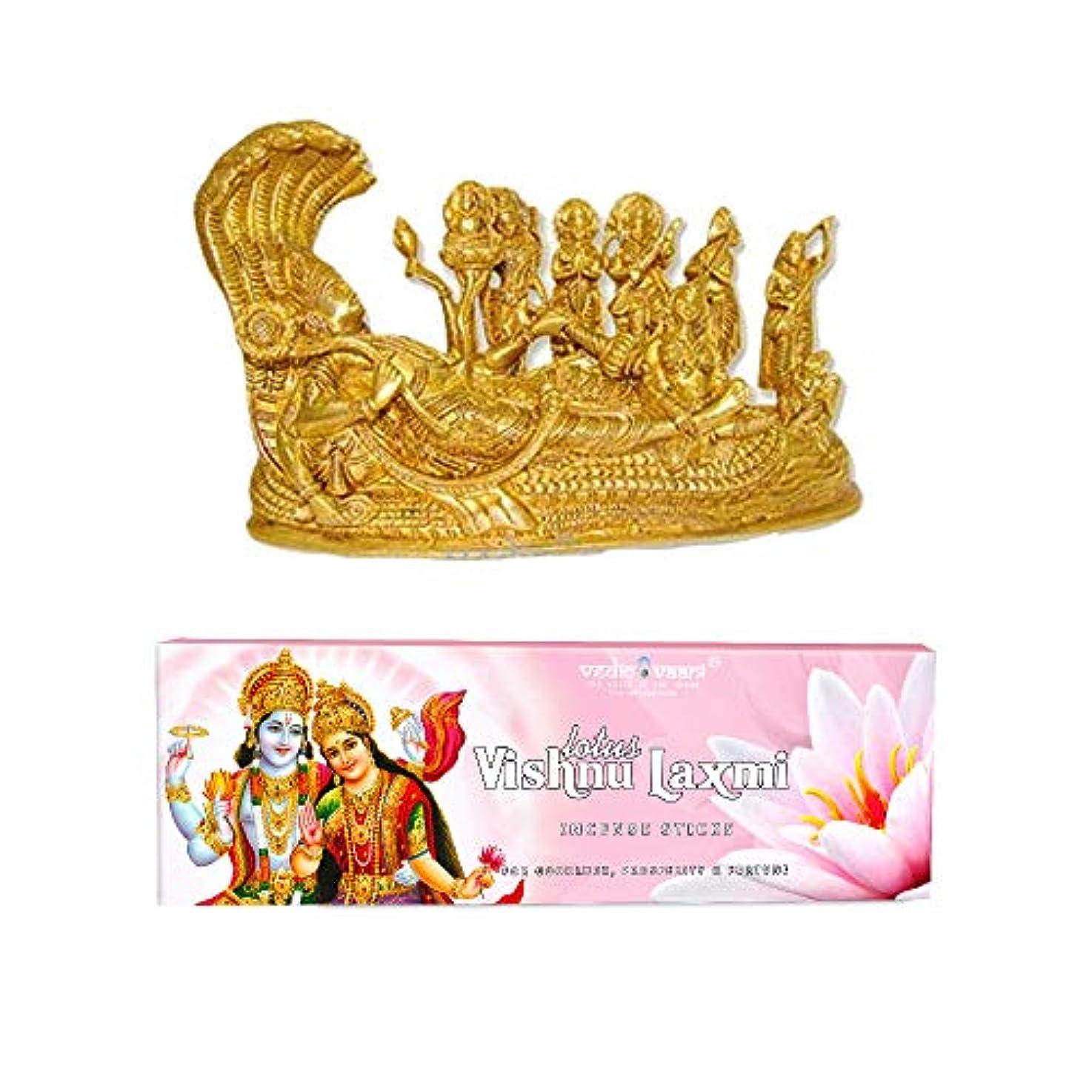 ブローホール無線聴覚障害者Vedic Vaani Vishnu Pariwar with Vishnu Laxmi お香スティック