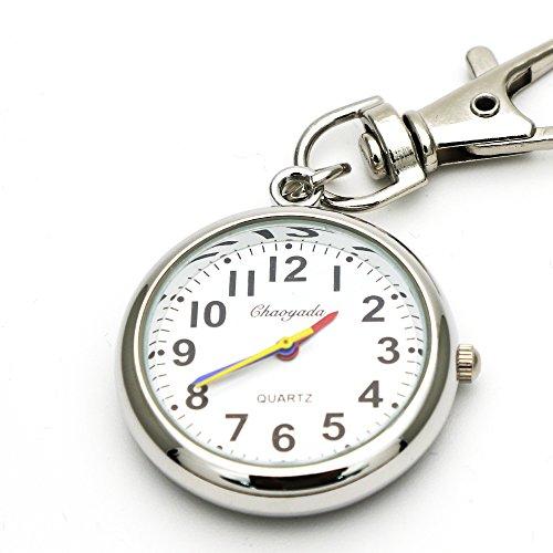 [해외]MAJESTIC 열쇠 고리 시계 간호사 시계 회중 시계 후크있는 다채로운 귀여운 편안한 회중 시계 쿼츠 식/MAJESTIC key holder watch nurse watch pocket watch hook style colorful cute readable pocket watch quartz type