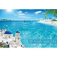 Mbwlkj 3D効果カスタム写真の壁紙 Hd の広いリビングルームベッドルームソファテレビの背景の壁の壁画を海の見える風景のモダンな壁紙-350Cmx245Cm