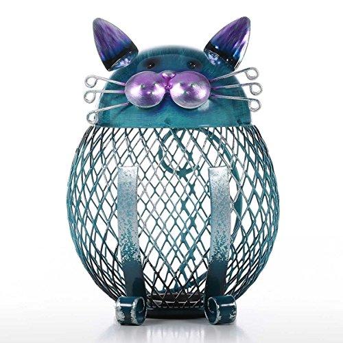 Tooarts 猫小銭ボックス 貯金箱 動物の置物 クリエイ...