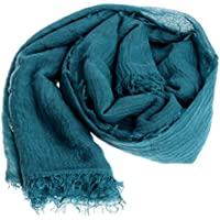 Kingrock Women Islam Maxi Crinkle Cloud Hijab Women Shawl Muslim Long Shawl Stole Wrap