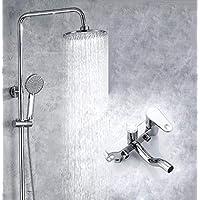 バスルームの銅レインシャワーシステム - ハンドヘルドウォールマウント - 3つのアウトレットシャワーは、平均的な柔軟性 - 調整可能なシャワー - あなたの家にスパをもたらす