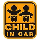 ナポレックス 傷害保険付き CHILD IN CAR セーフティサイン 【マグネットタイプ(外貼り)】 SF-33