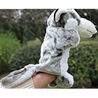 YChoice 興味深い指人形 おもちゃ 動物園 友達 ハンドパペット 幼稚園の物語 小道具 ウルフ ハンドパペット (グレー)