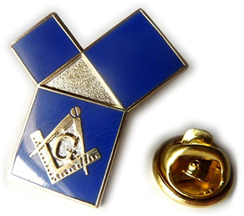 Euclid 's 47th問題のピタゴラスの定理Freemason Masonicラペルピン