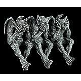 5 Inch Gargoyle See Hear Speak No Evil Shelf Sitters Statue Figurine