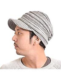 (カジュアルボックス) 秋冬 ニット帽 ゆったり つば付き ニット キャスケット 男女兼用 charm