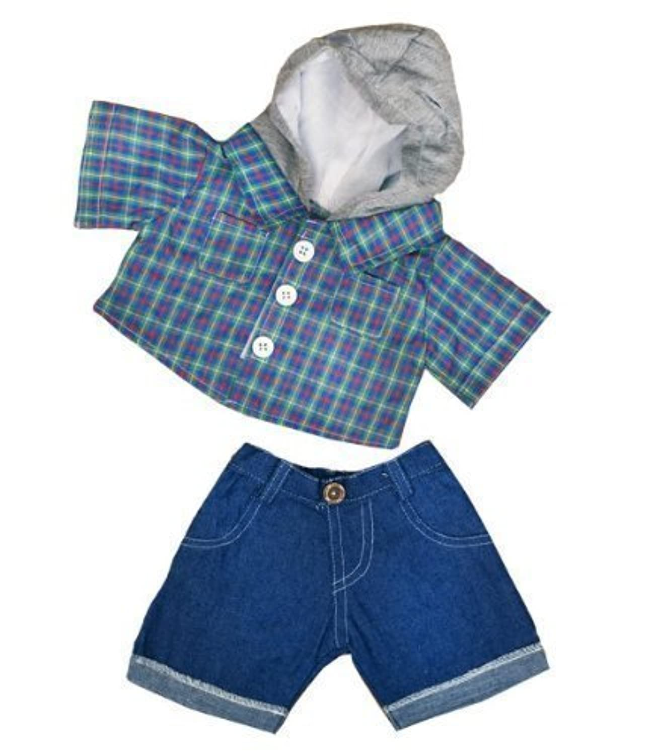 Skater Hoodie w/Denim Pants Teddy Bear Clothes Outfit Fits Most 14