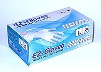 EZ手袋パウダーフリーラテックス手袋(パックof 100) L