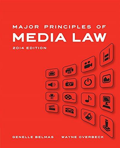 Download Major Principles of Media Law, 2014 Edition 1133307329