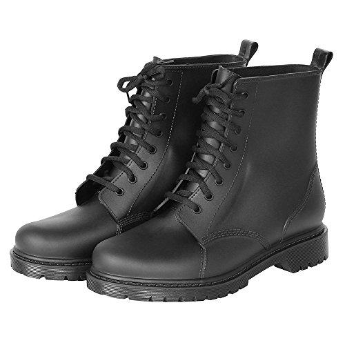 Miaotech メンズレインブーツ レディース レインシューズ スノーシューズ ショートブーツ ビジネスシューズ 雨靴 紳士靴 男女兼用 長靴 完全防水 防滑(26.0cm)