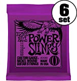 【正規品】 ERNIE BALL ギター弦 パワー (11-48) 6セット 2220 POWER SLINKY 6SET