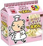 エースコック 太めんワンタンメン(袋) 5食パック×6個