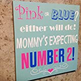 Expectant Mother Birth Announcement Sign Baby Shower Wall Decor Gifts for Pregnancy Announcement