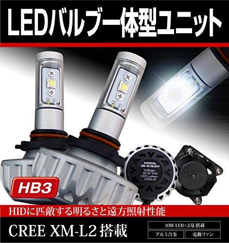 デリカ D5 HB3 CREE XM-L2 ハイビーム LEDバルブ一体型ユニット