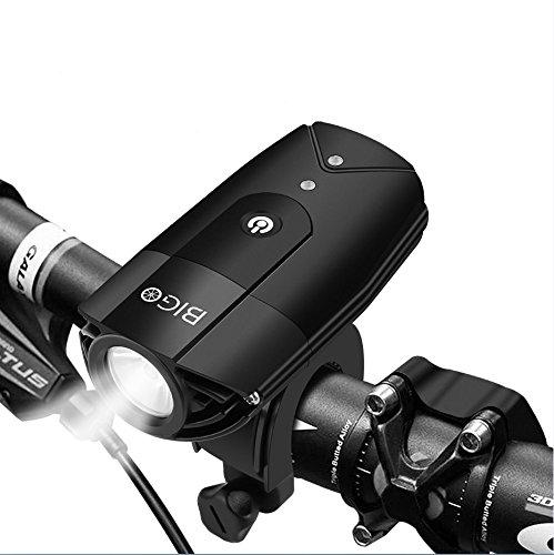 BIGO 純正 自転車ライト ヘッドライト 非常時タッチスイッチ版 USB充電 防水防塵 IP65 大容量2000mah
