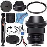 Sigma 24mm f / 1.4DG HSM Artレンズfor Nikon F # 401306+クリーナー+ FiberCloth 77mm UVフィルター+レンズペン+レンズCapkeeper..
