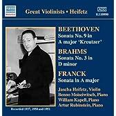 ベートーヴェン/ブラームス/フランク:ヴァイオリン・ソナタ(ハイフェッツ)(1937 - 1951)