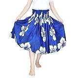 ■JA3333 フラ シングルパウスカートブルー×ホワイト 73~75cm丈  フラダンス スカート フラダンス衣装 パウスカート フラ 衣装 フラ パウスカート フラダンス パニエ フラダンス 衣装 ドレス フラ ハワイ ムームー フラ ドレス フラ 通販 フラ用品
