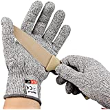 NoCut® Cut Resistant Gloves - Breathable Airsoft,High Performance Level 5 Protection, Food Grade. 3 Year Warranty (Small)