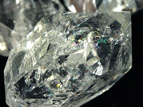 [해외]천연석의 시마다 상사 USA 뉴욕 하키마 지역 산 천연 원석 하키마 다이아몬드 (양두 크리스탈 더블 포인트 크리스탈) S 사이즈 1 개 | ac-01740/Natural stone Shimada trading USA Natural gemstone Herquimer diamonds from Herkimer district of ...