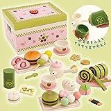 【今だけ苺ミニバッグ付】 木のおままごと 野苺 和風お茶会セット 和菓子 44199301