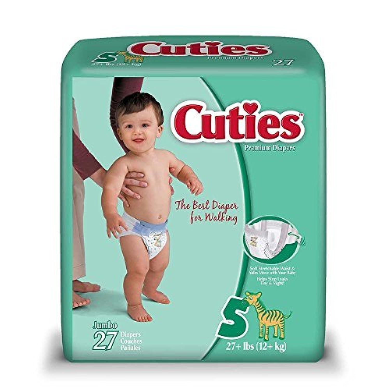 Cuties Premium Baby Diapers, Size 5, Case/108 (4 bags of 27) by Cuties [並行輸入品]