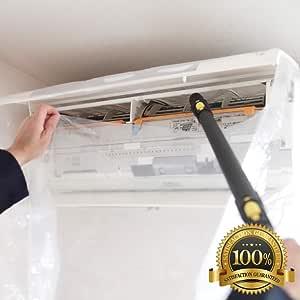 使いやすい 透明 エアコン 掃除 カバー 洗浄 シート 壁掛け用 スチームクリーナー 対応 CREEKS (【改良版】透明)