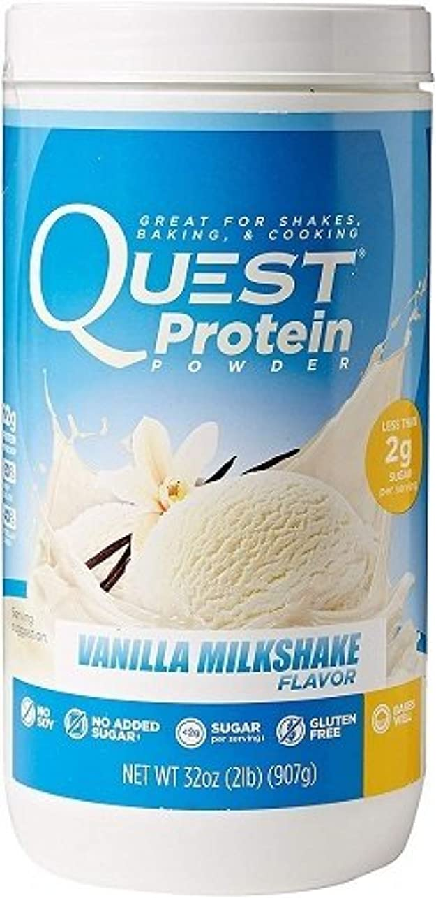ラップトップ同意する突き出すQuest Nutrition, Protein Powder, Vanilla Milkshake Flavor, 32 oz (907 g) 海外直送品