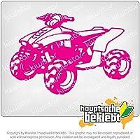 クワッドバイク Quad Motorbike 15cm x 10cm 15色 - ネオン+クロム! ステッカービニールオートバイ