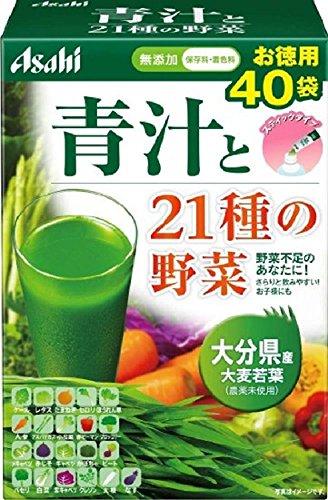アサヒグループ食品 朝しみこむ力 青汁と21種の野菜 40袋