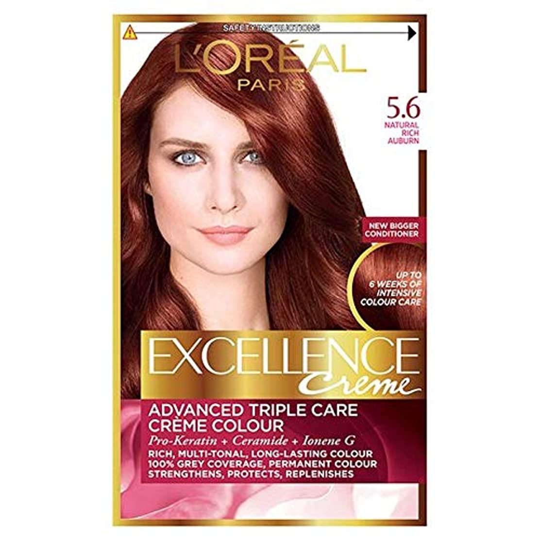 槍ウェブにんじん[Excellence] ロレアルパリ優秀5.6豊かな赤褐色 - L'oreal Paris Excellence 5.6 Rich Auburn [並行輸入品]