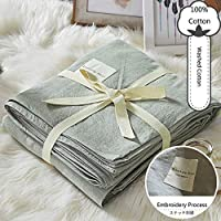 単色 フラットシーツ, 敷きシーツ ベッド カバー 洗浄綿 単純な風 刺繍 耐汚染性 低 シーツ 1 pc-グレー 160x230cm(63x91inch)