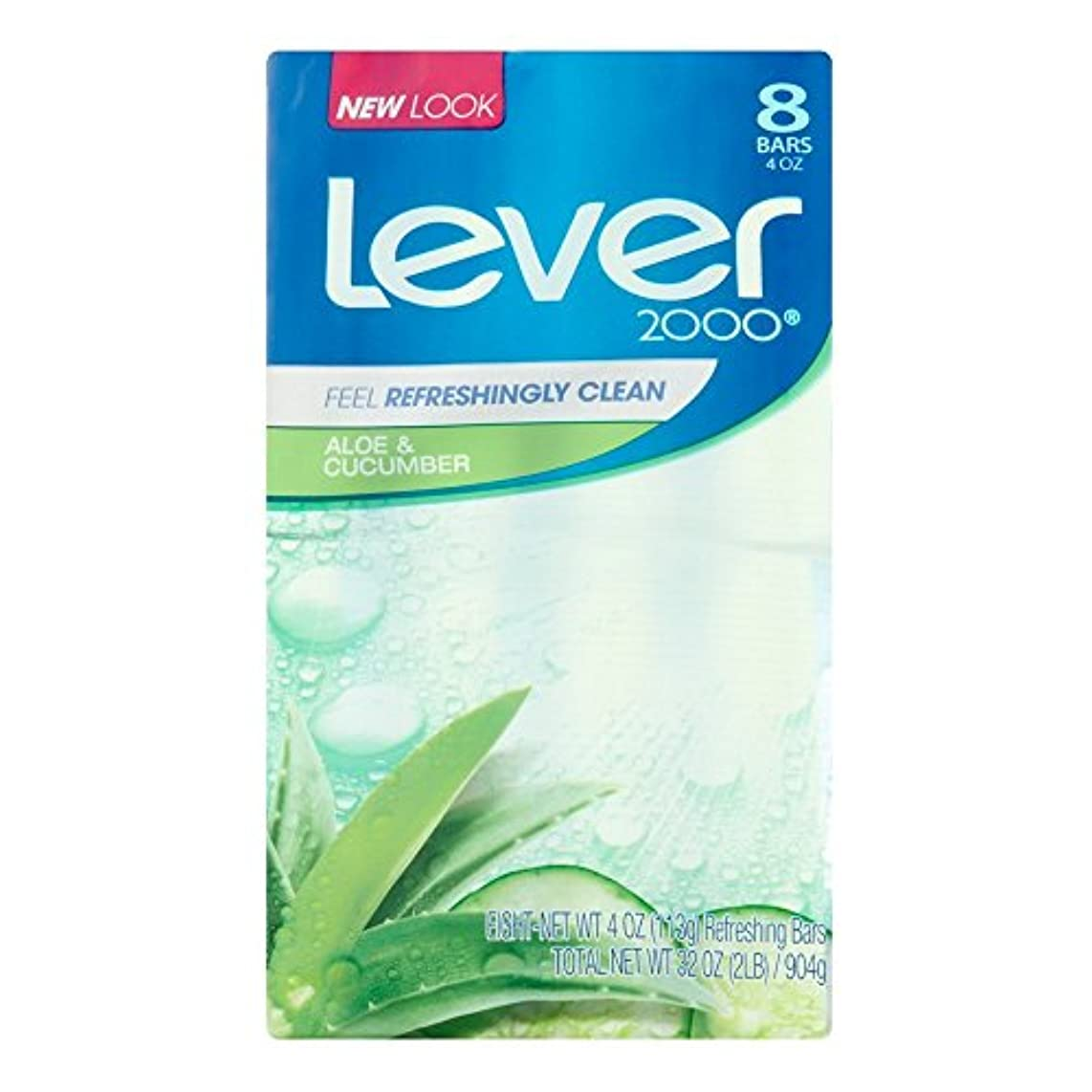 冒険者学校の先生粘着性Lever 2000 Aloe And Cucumber Refreshing Bars Soap