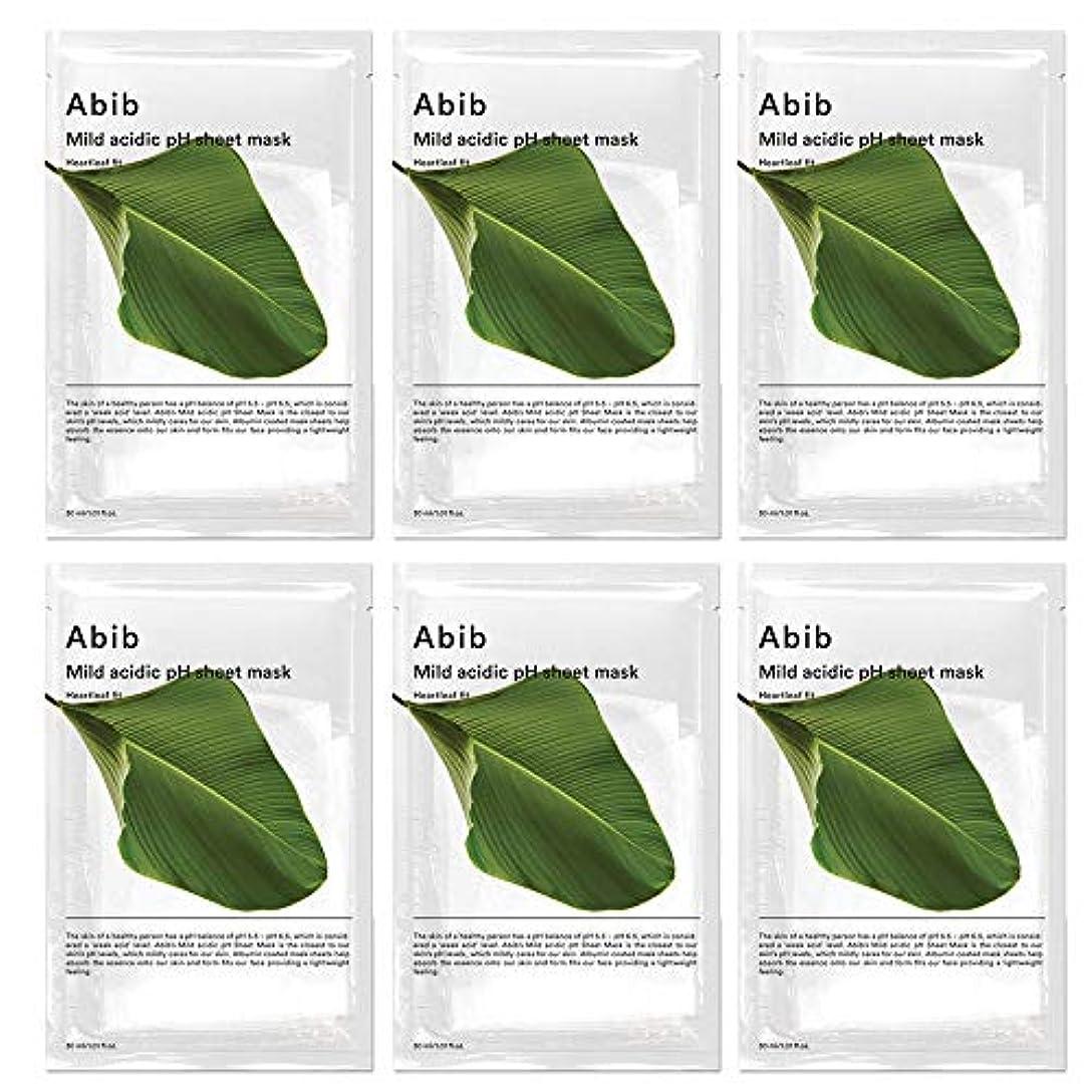 おいしい襟首尾一貫したABIB MILD ACIDIC pH SHEET MASK_ HEARTLEAF FIT/弱酸性phシートマスク ドクダミフィット(10枚)日本国内発送